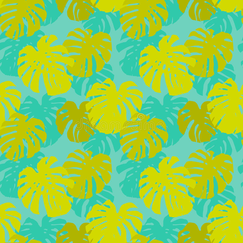Download Seamless Pattern With Monstera Leafs Stock Vector - Image: 29839970