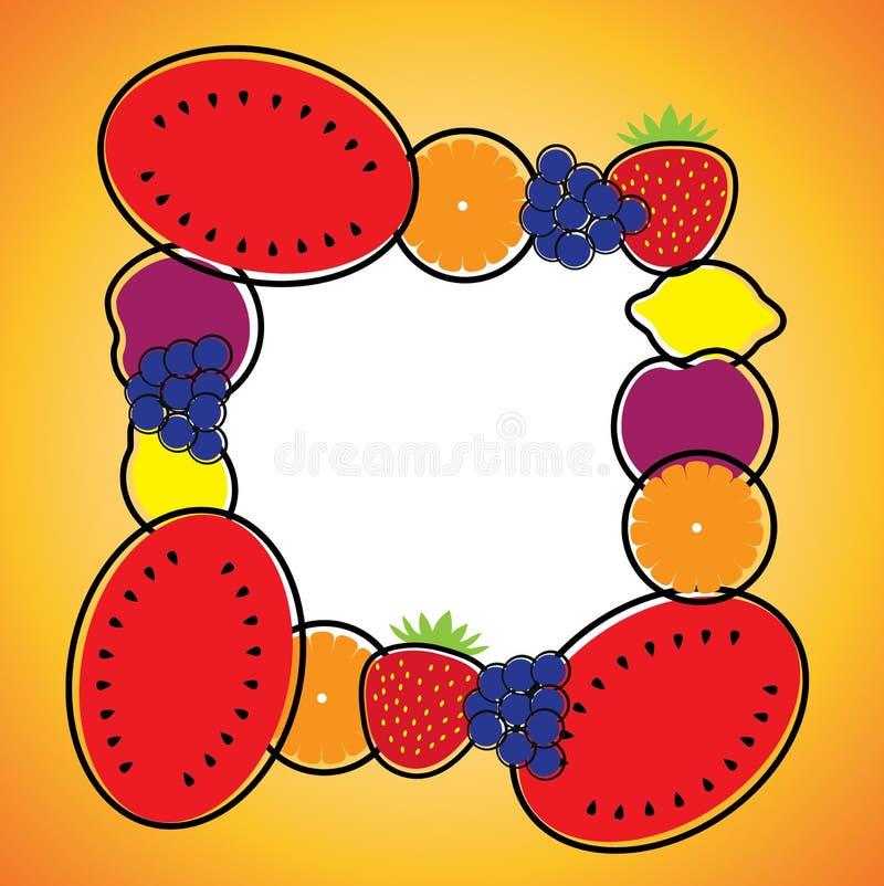 Download Seamless Background Pattern- Melon,orange,grapes,lemon & Plum Stock Vector - Image: 30460048