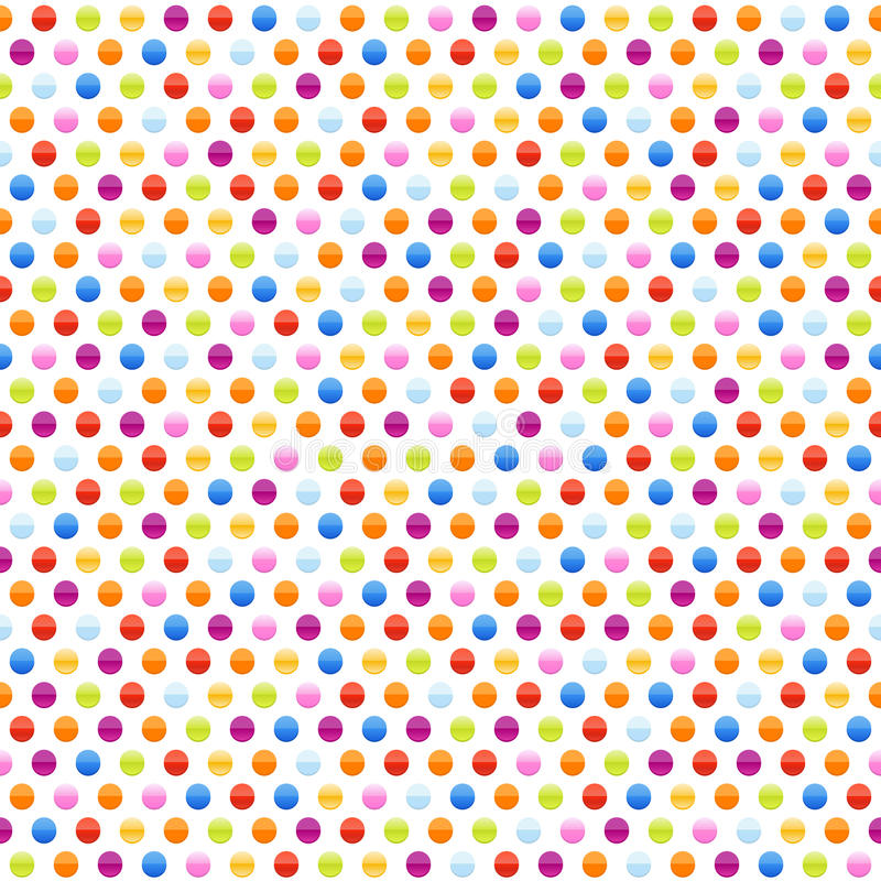 Download Seamless Background Pattern With Multicolored Dots Royalty Free Stock Photo - Image: 23719735