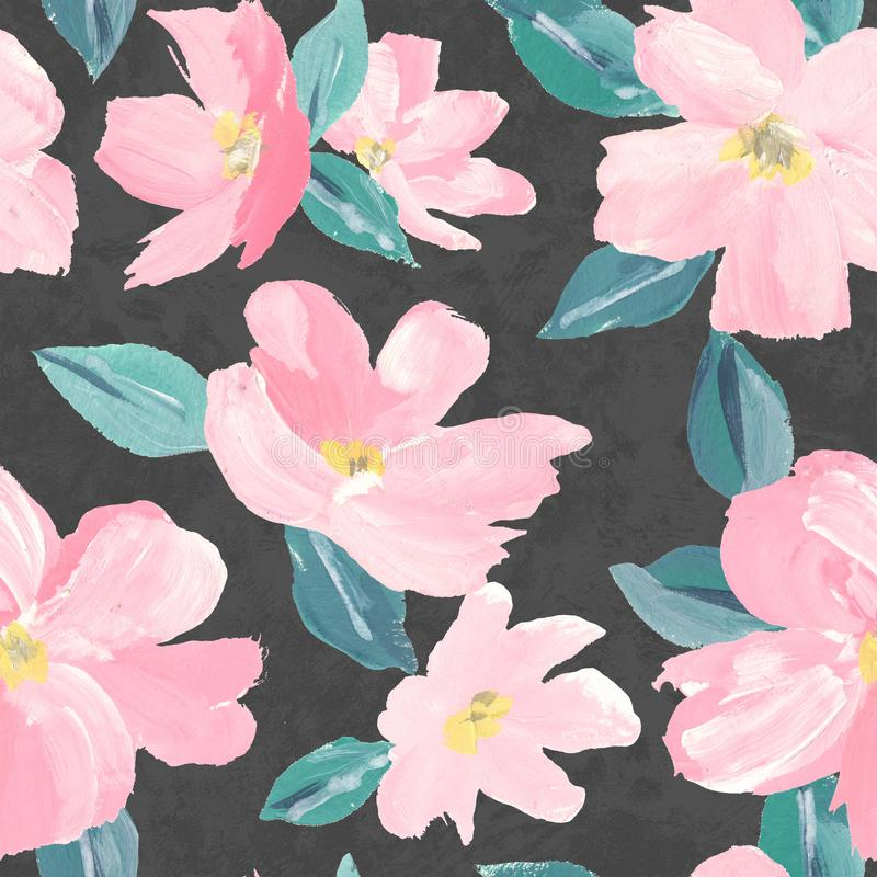 Seamless background pattern of pink Sakura blossom or Japanese flowering cherry symbolic of Spring  suitable for textile, wrapping vector illustration