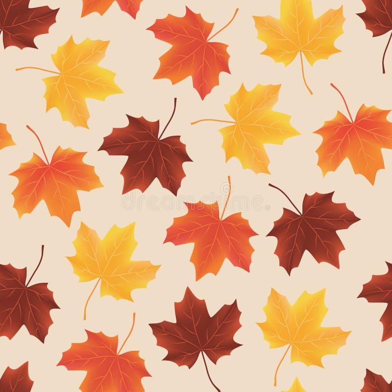 Seamless pattern texture of fallen autumn leaves stock photo