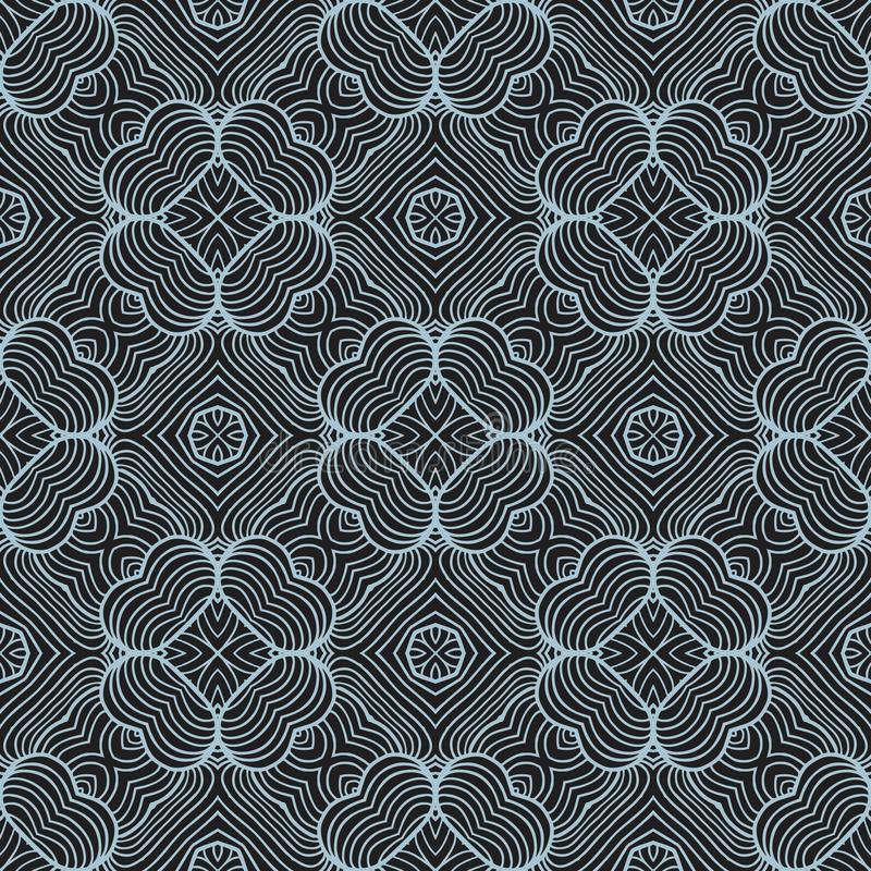 Contrast waved lines seamless pattern background illustration. Seamless background pattern for use in fabrics , web backgrounds , art , styling , prints vector illustration