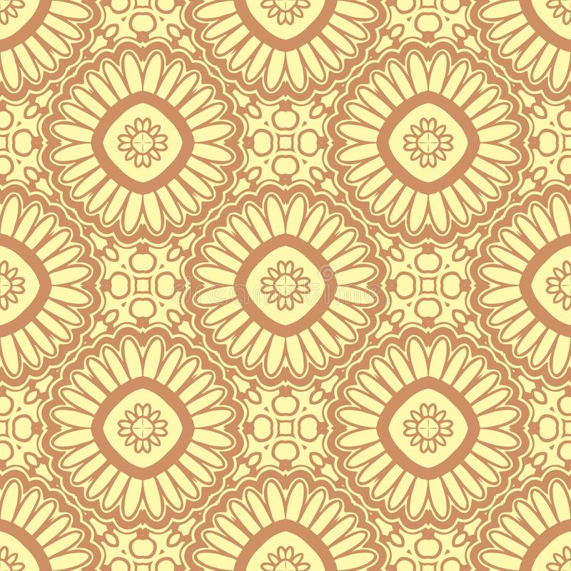 SUN FLOWERS SEAMLESS PATTERN BACKGROUND I. Seamless background pattern for use in fabrics , web backgrounds , art , styling , prints , designing stock illustration