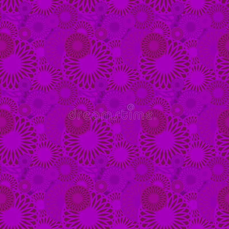 Seamless background pattern with a variety of colored floral motifs. vector illustration