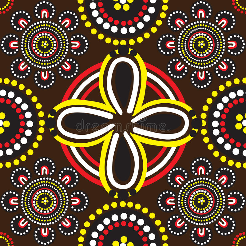 Download Seamless Background Patterns And The Australian Stock Vector - Image: 25491478