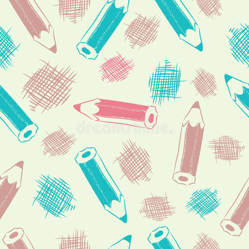 Download Seamless Background With Pencils Stock Vector - Illustration: 33865253