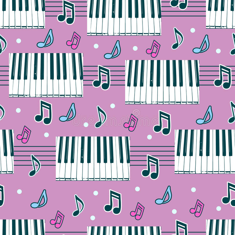 Seamless background with piano stock illustration