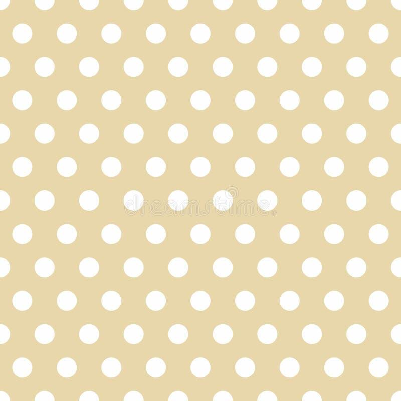 Seamless Background with Polka Dot pattern. Polka dot fabric. Retro pattern. Casual stylish white polka dot texture. On bright background royalty free illustration