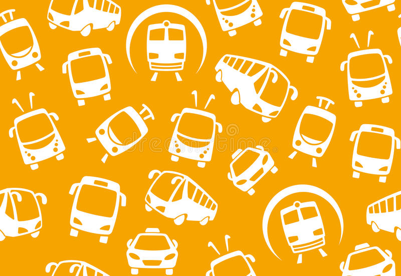 Download Seamless Background Of Public Transport Stock Photo - Image of seamless, metro: 19266690