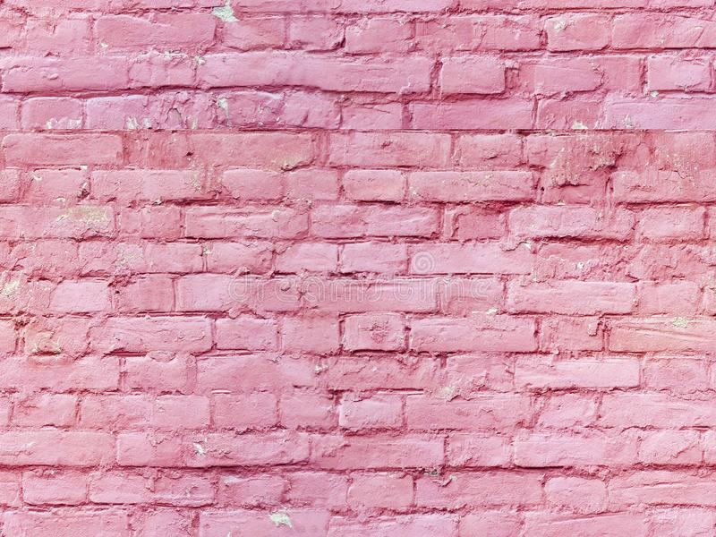 Seamless background of red brick wall of an old historical building with vintage style, grunge free space royalty free stock photography
