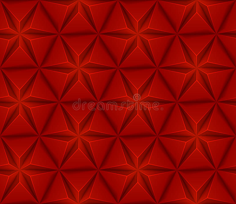 Seamless background with red triangles star vector illustration