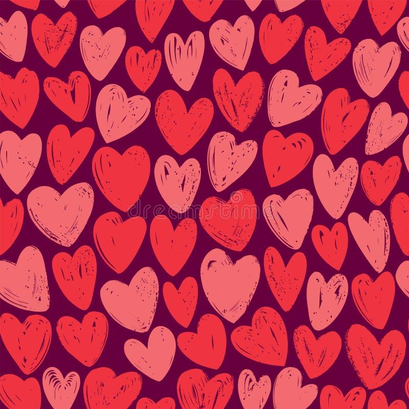 Seamless background. Romance, love concept. Decorative pattern vector illustration. Seamless background. Romance, decorative pattern vector illustration stock illustration