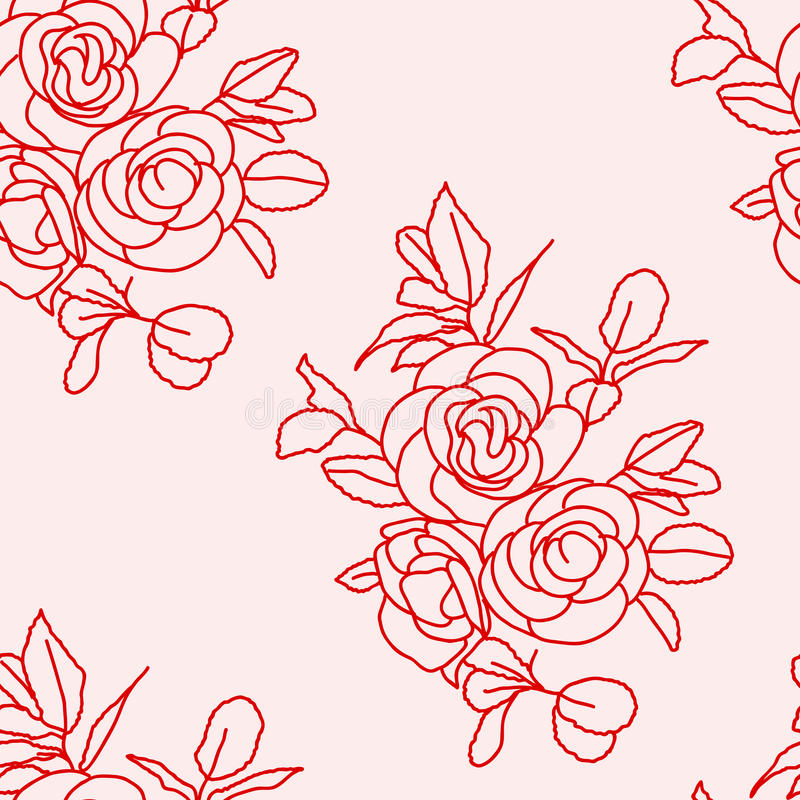 Seamless background with roses. royalty free illustration