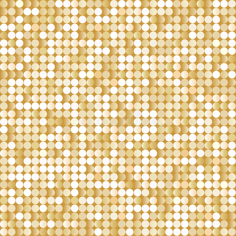 Seamless background with shiny golden paillettes vector illustration