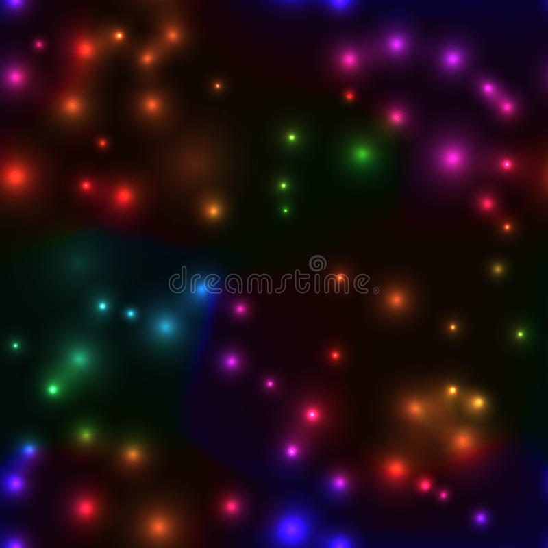 Seamless background with small lights in rainbow colors vector illustration