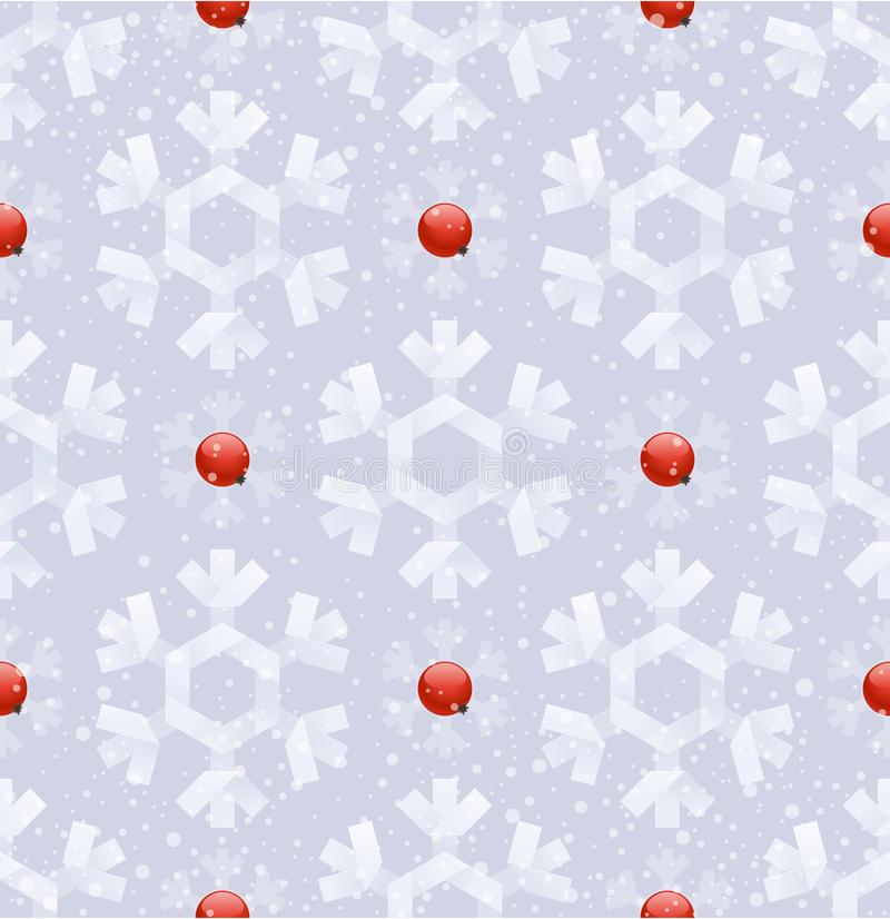Seamless background with snowflakes vector illustration