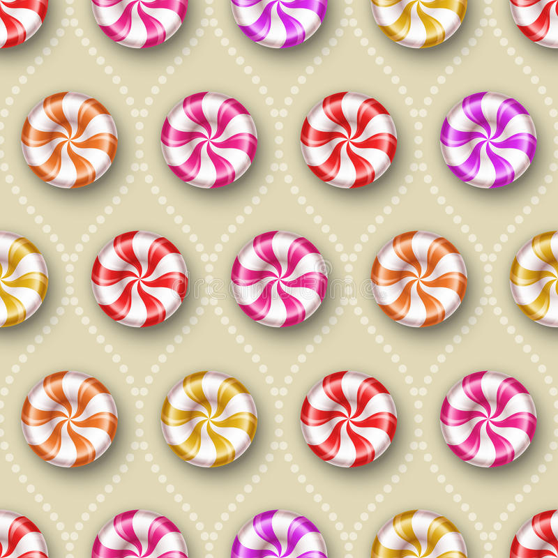 Seamless background with sweets