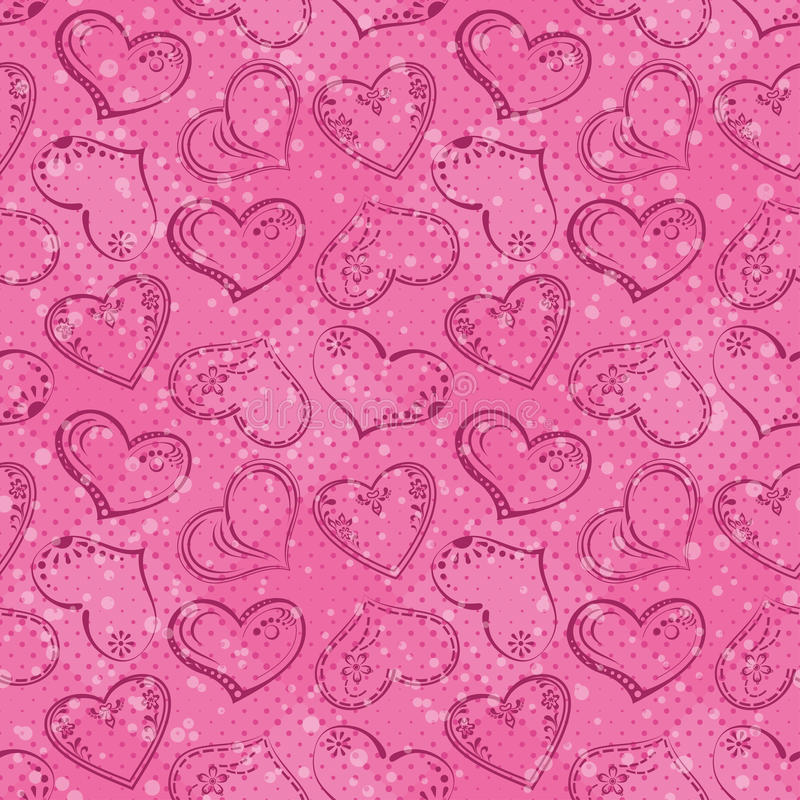 Download Seamless Background, Valentine Hearts Stock Vector - Illustration of decorative, fabric: 34246074