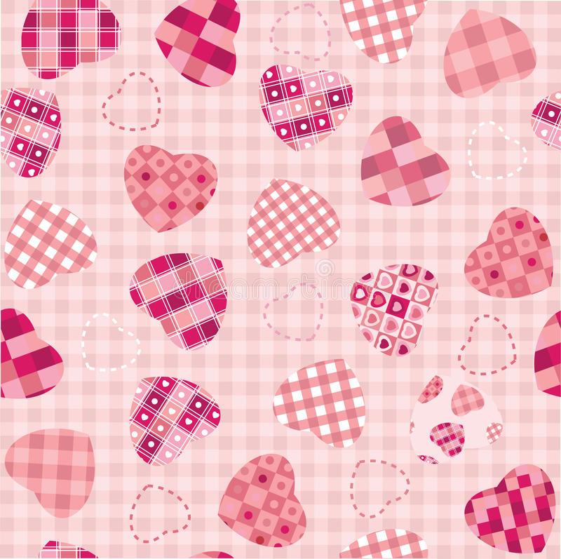 Seamless background for Valentine's day design. royalty free illustration