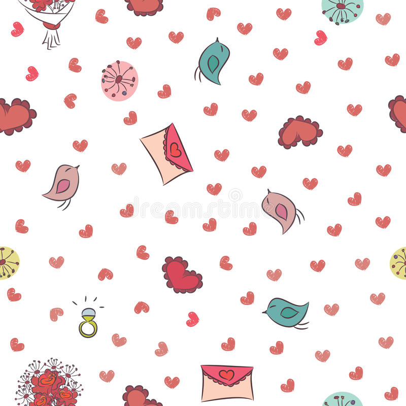 Seamless background for Valentines Day.