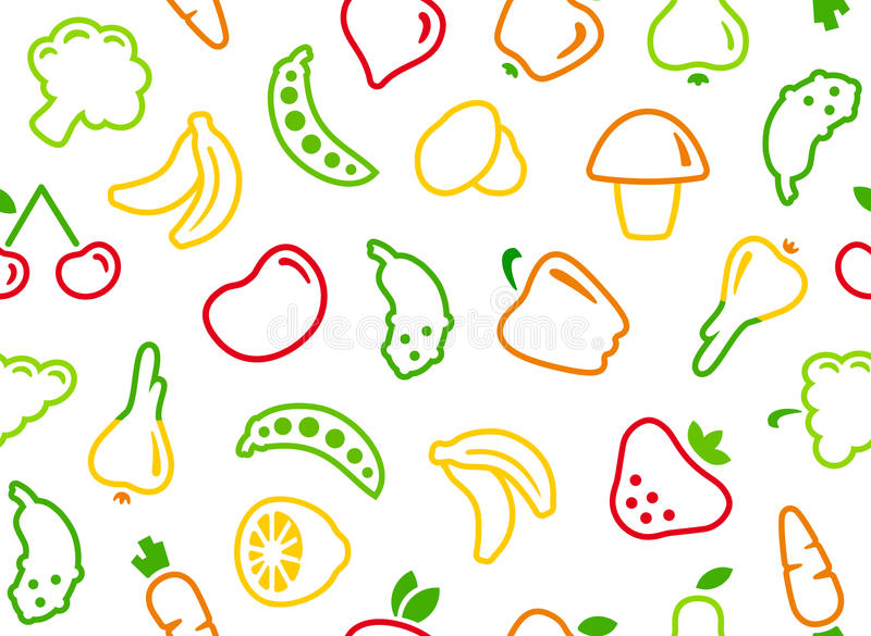 Download Seamless Background With Vegetables And Fruit Stock Vector - Illustration: 29050199