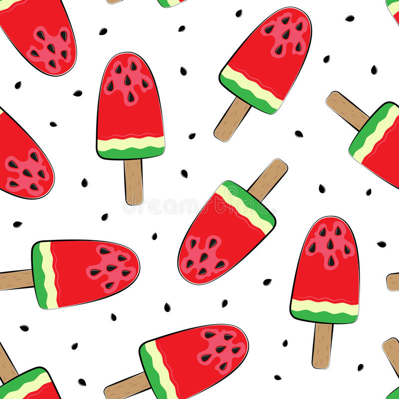 Seamless background with watermelon. Vector illustration. A simple pattern. Summer time royalty free illustration