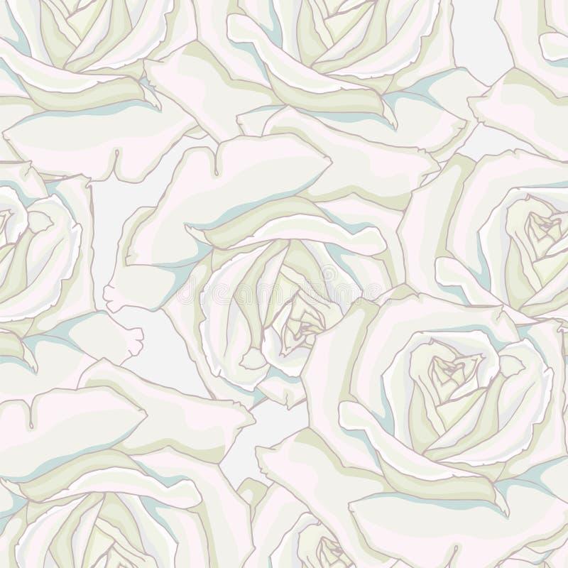 Free Seamless Background. White Roses. Stock Photo - 42217490