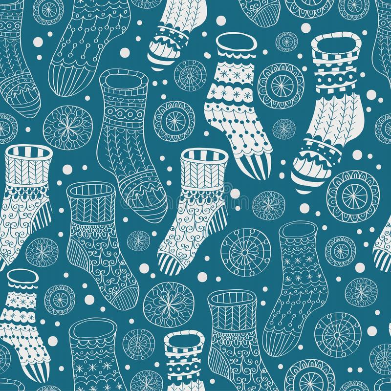 Download Seamless Background With Winter Stockings Stock Vector - Image: 27035385