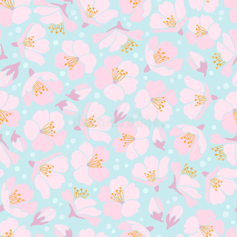 Free Seamless Background With Apple Blossom Stock Photo - 24266330