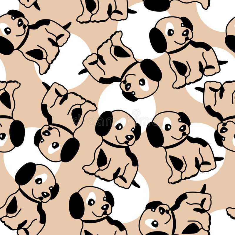 Free Seamless Background With Puppy Royalty Free Stock Image - 11616436