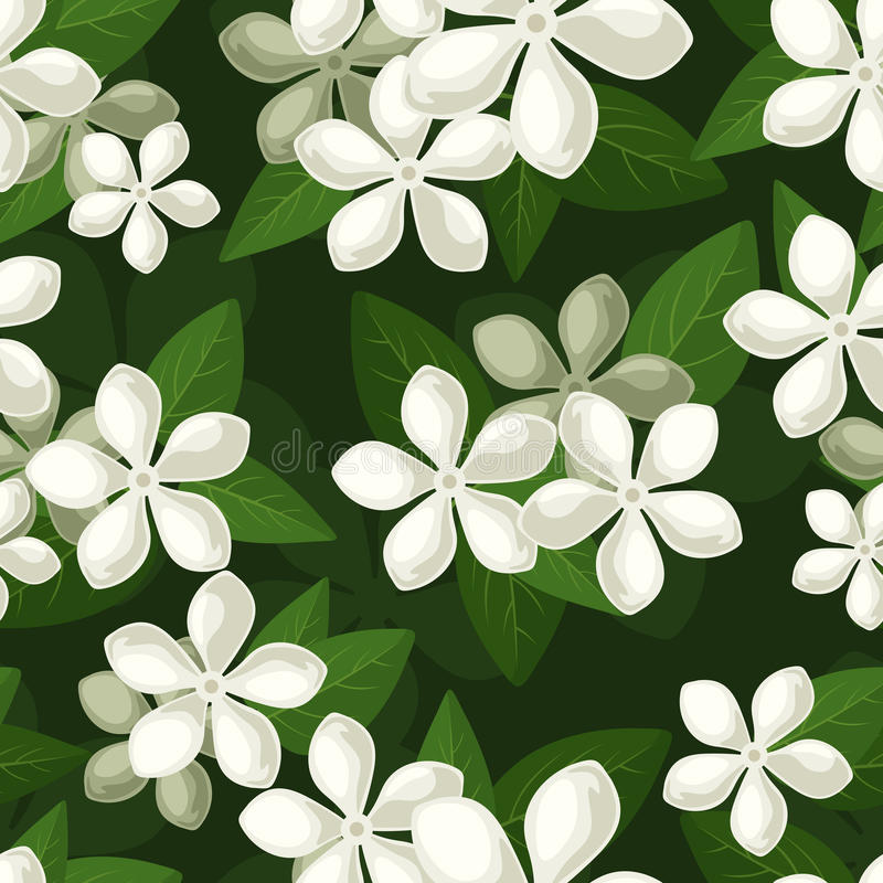 Free Seamless Background With White Flowers. Stock Photos - 28990073