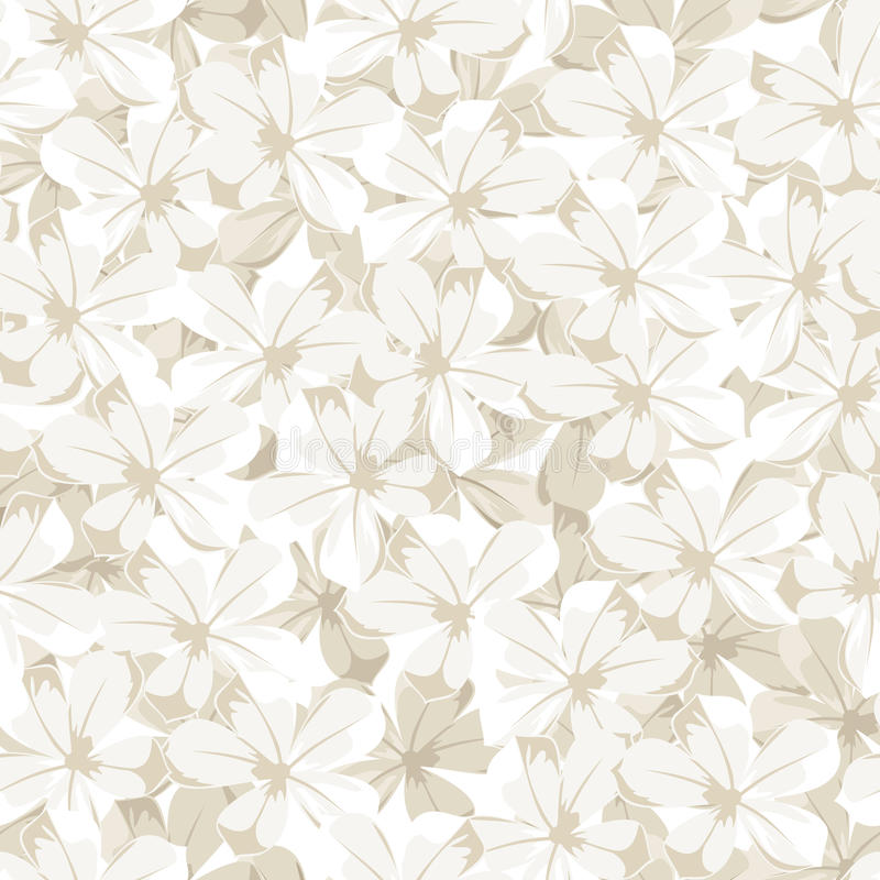 Free Seamless Background With White Flowers. Vector Ill Royalty Free Stock Images - 39815049