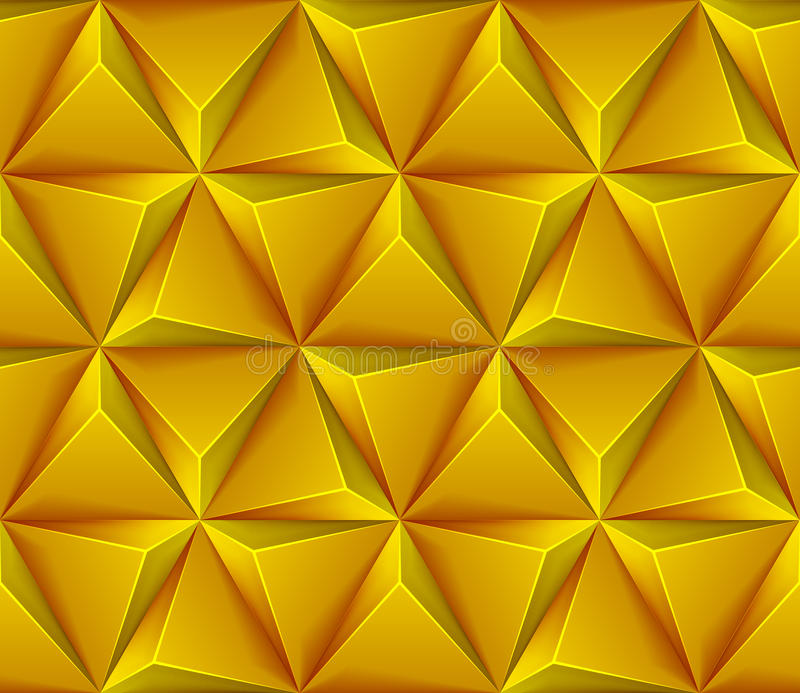 Seamless background with yellow triangles vector illustration