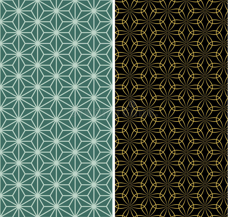 Seamless backgrounds of Chinese style royalty free illustration