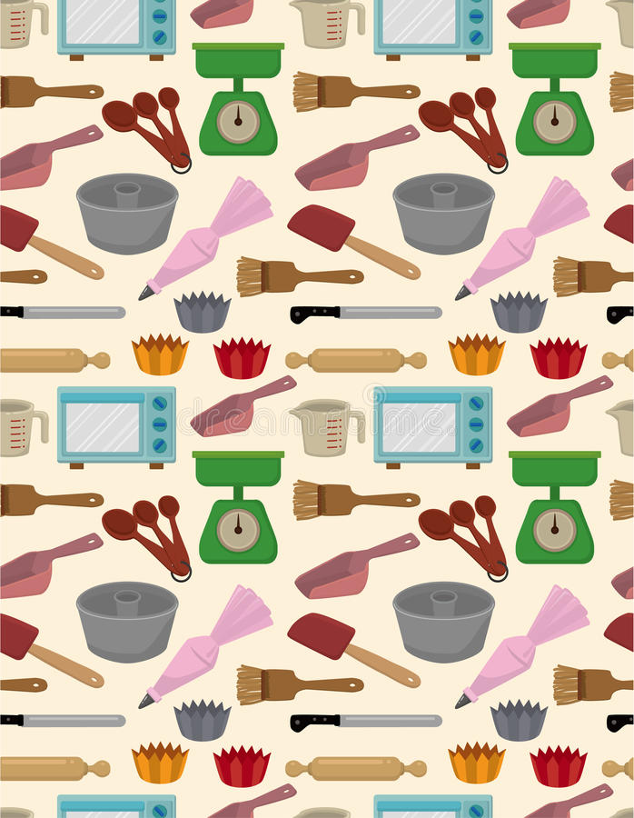 Download Seamless bake tool pattern stock vector. Image of bread - 18947510