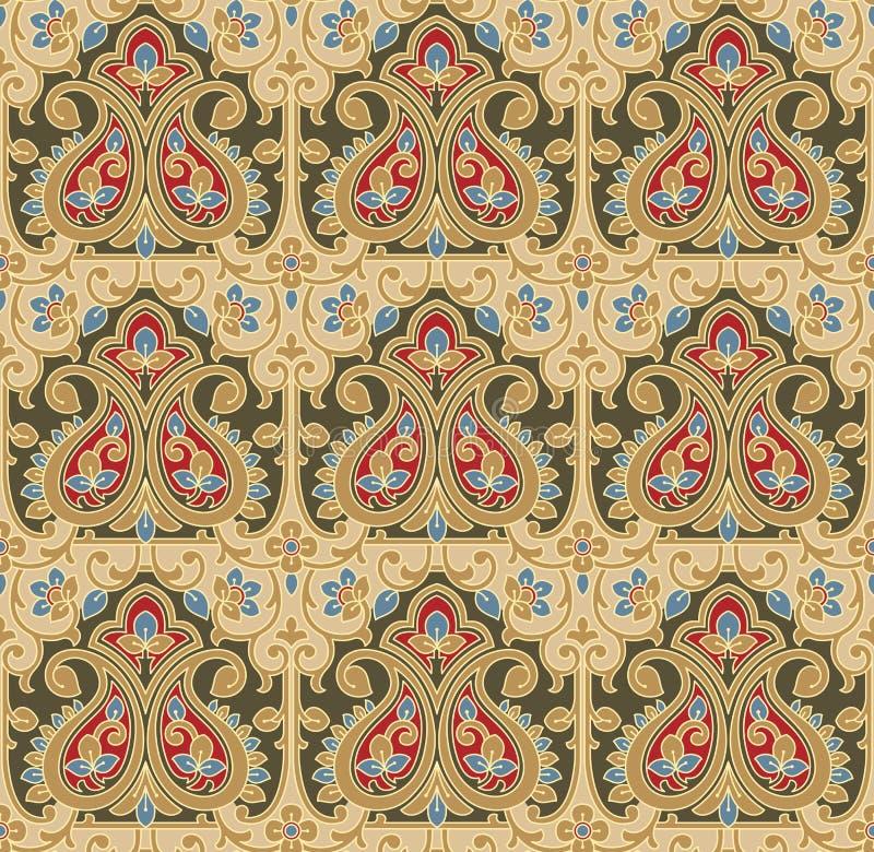 Seamless-Bakgrund för mattar och tyger vektor illustrationer