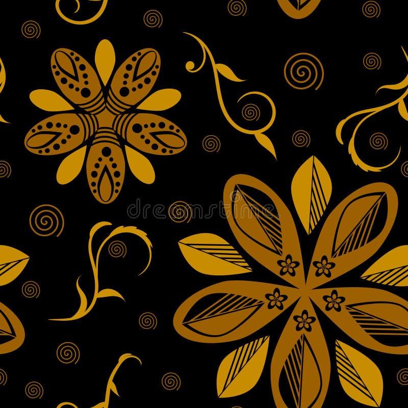 Seamless bakgrund f?r f?rgrik blomma royaltyfri illustrationer