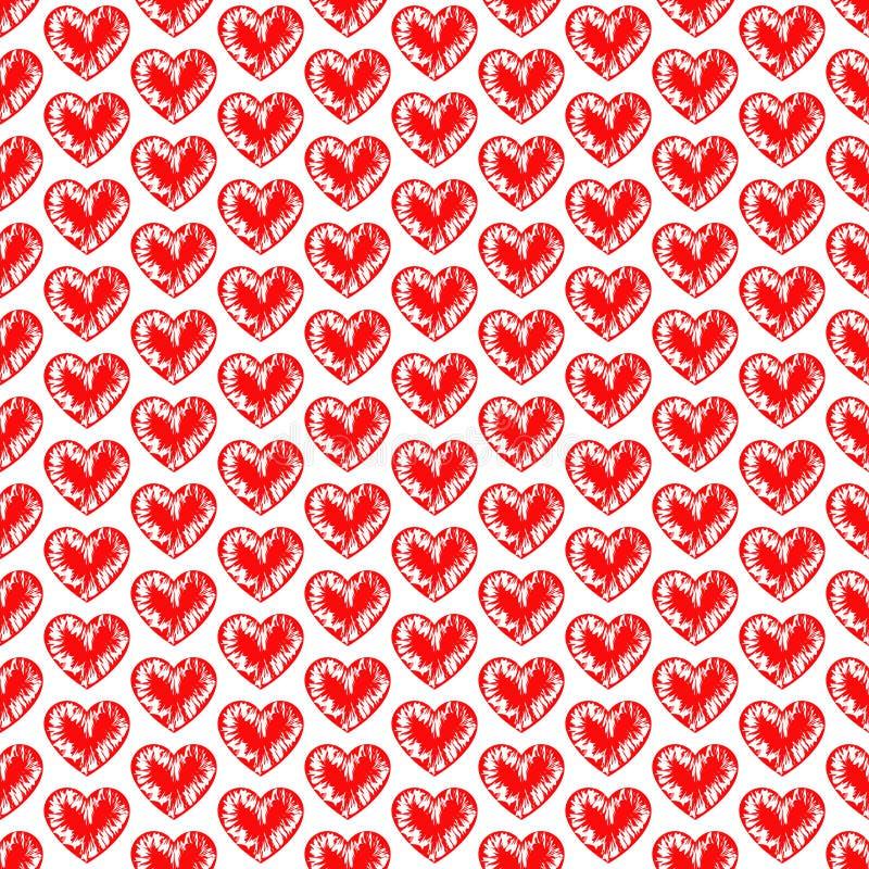 seamless bakgrundshjärtor Förälskelsedesign Romantisk konst Valentinen mönstrar Elegant bakgrund för kort, inbjudningar royaltyfri illustrationer
