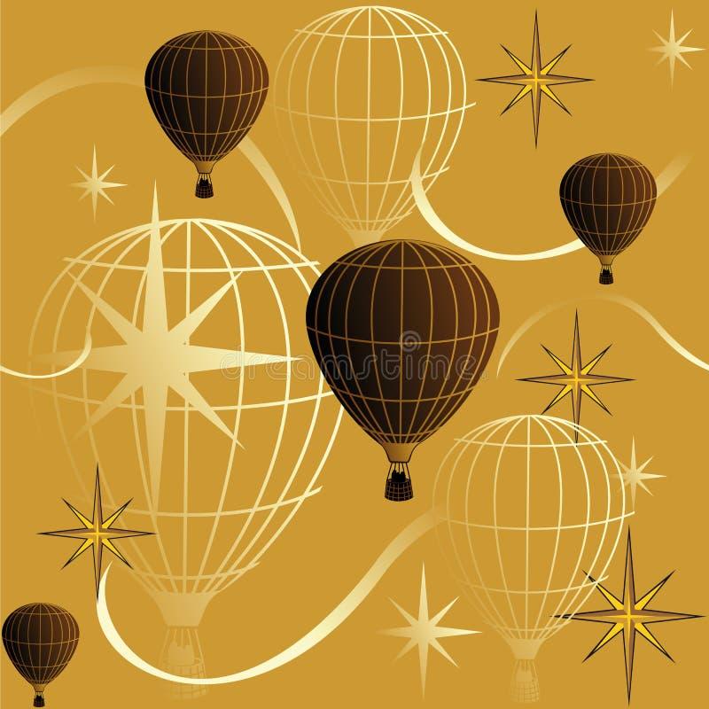 Seamless bakgrundsresa i en ballong royaltyfri illustrationer