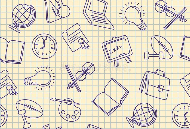 seamless bakgrundsskola vektor illustrationer