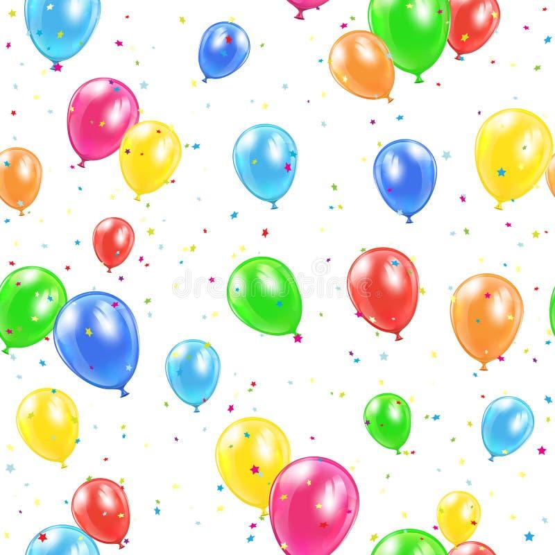 Seamless balloons background royalty free illustration