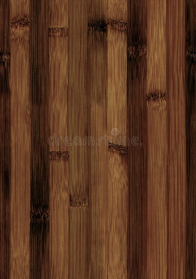 Seamless bamboo wooden texture royalty free stock image
