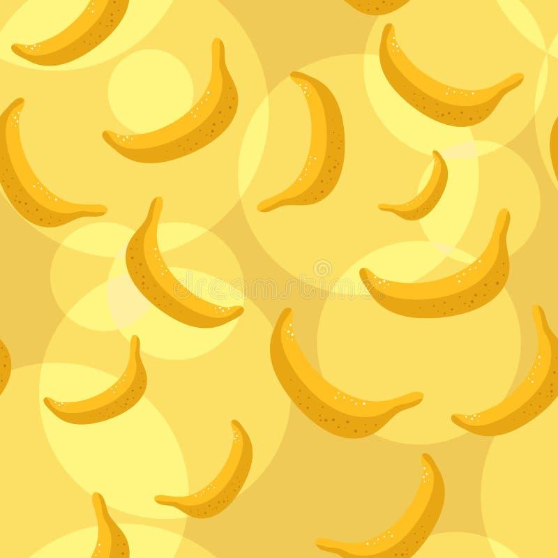 Seamless bananas background royalty free illustration