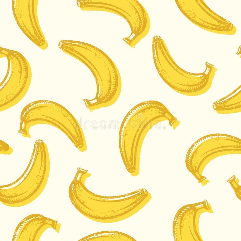 Seamless bananas background pattern. Vector seamless bananas background pattern stock illustration