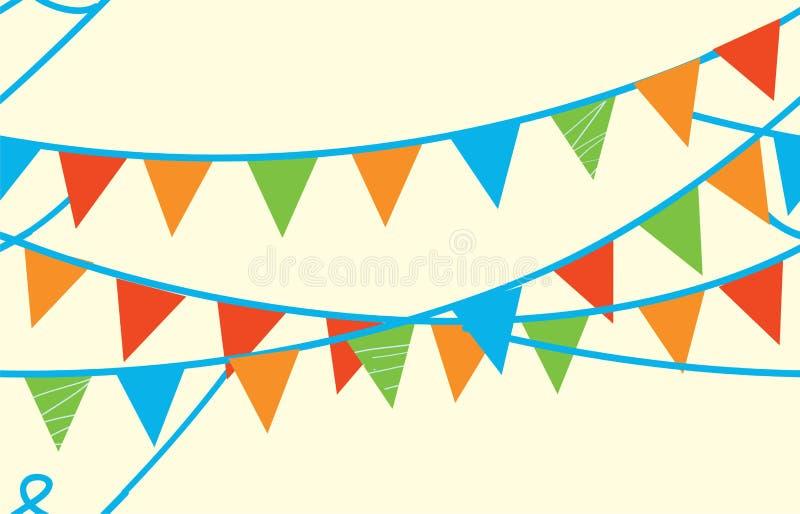 Seamless baner med flaggor royaltyfri illustrationer
