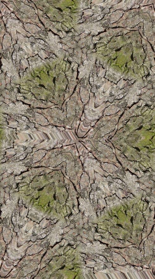 Seamless Bark Texture Pattern. A seamless bark texture pattern background royalty free stock photo