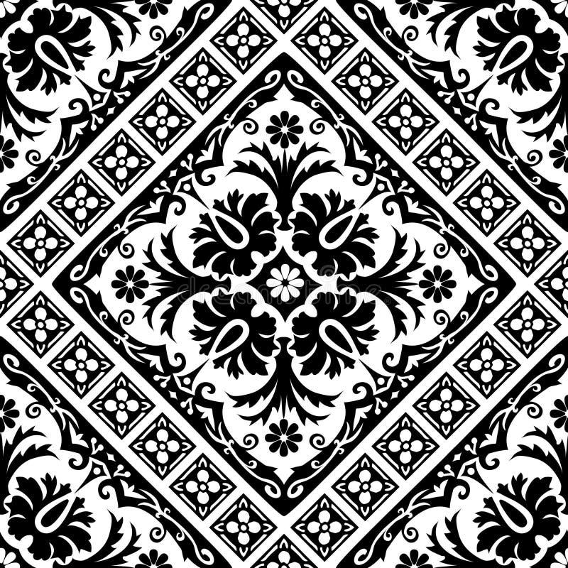 Seamless baroque vector illustration