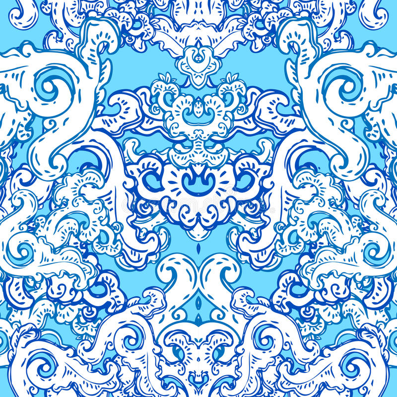 Seamless baroque pattern vector illustration