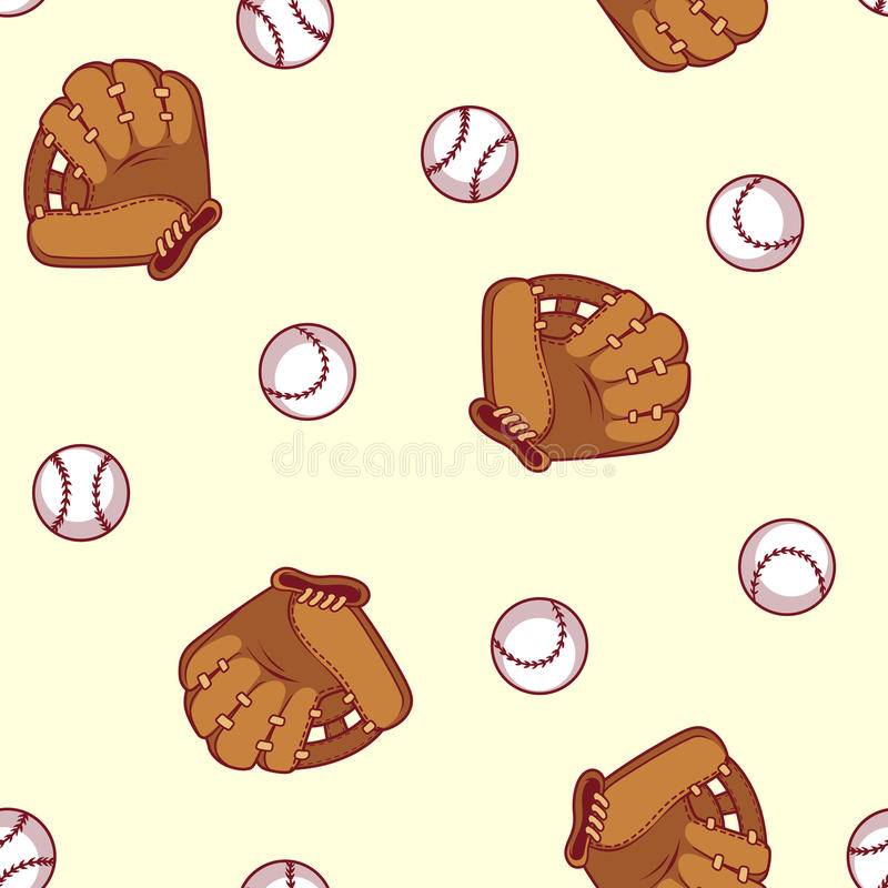 seamless baseballmodell vektor illustrationer