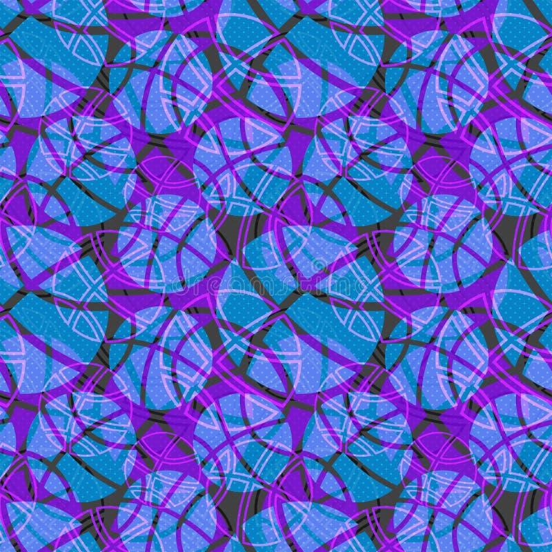 Seamless Basketball Ball Texture Blue Pattern Stock Images